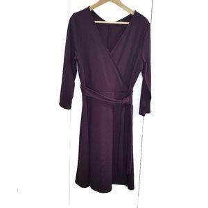 Lands' End Ponte Wrap Dress w/ Tie